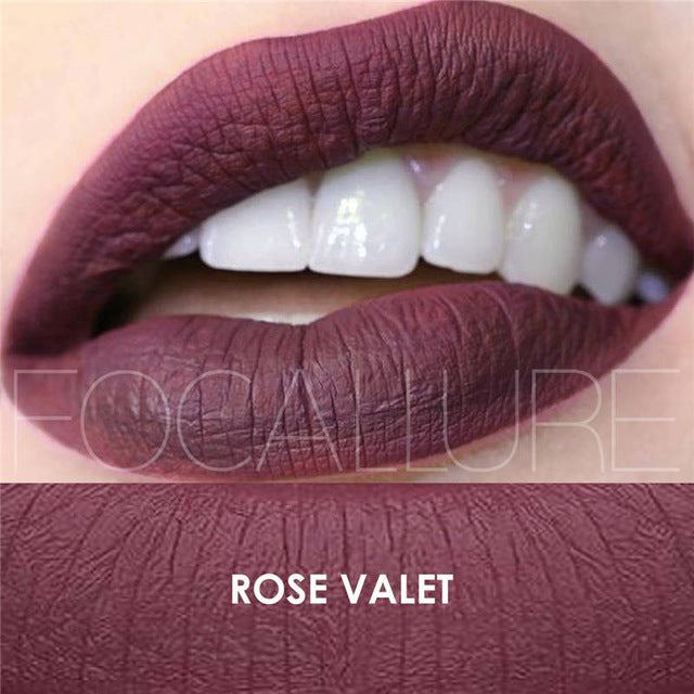 FOCALLURE Matte Liquid Lip Gloss Lipsick Maquiagem Profissional Completa Long Lasting Waterproof Cosmetic Beauty Makeup