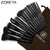 Zoreya Brand 15pcs Black Makeup Brushes Set Eyeshadow Powder Foundation