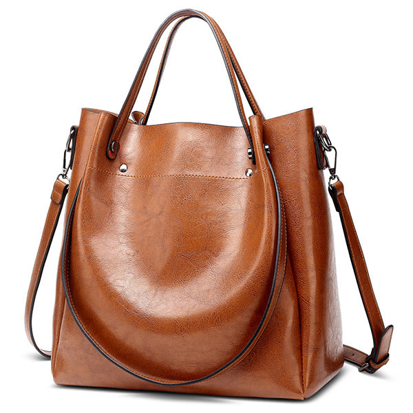 ACELURE Casual Large Capacity Tote Shoulder Bag PU Leather