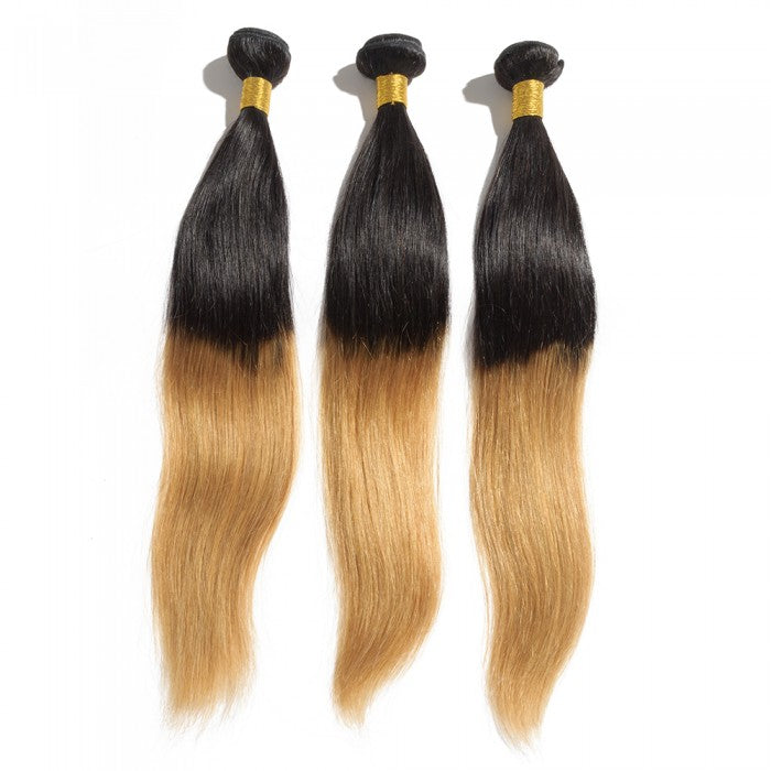 Bundles Ombre Brazilian Straight Human Hair Bundle With Weave