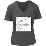 District Womens V-Neck: Haiku: Strong Women/Eyes