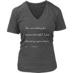 District Womens V-Neck: Haiku: Beautiful 1