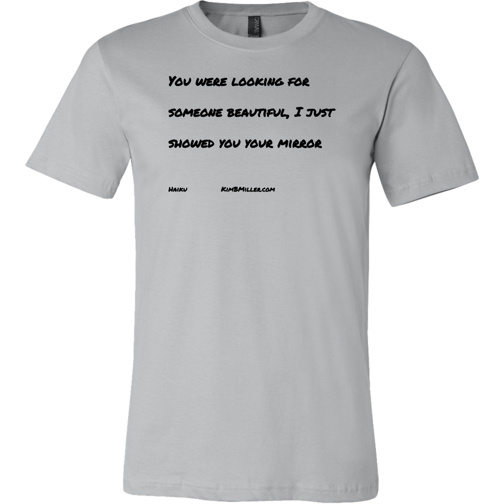 Canvas Men's Shirt: Beautiful Words