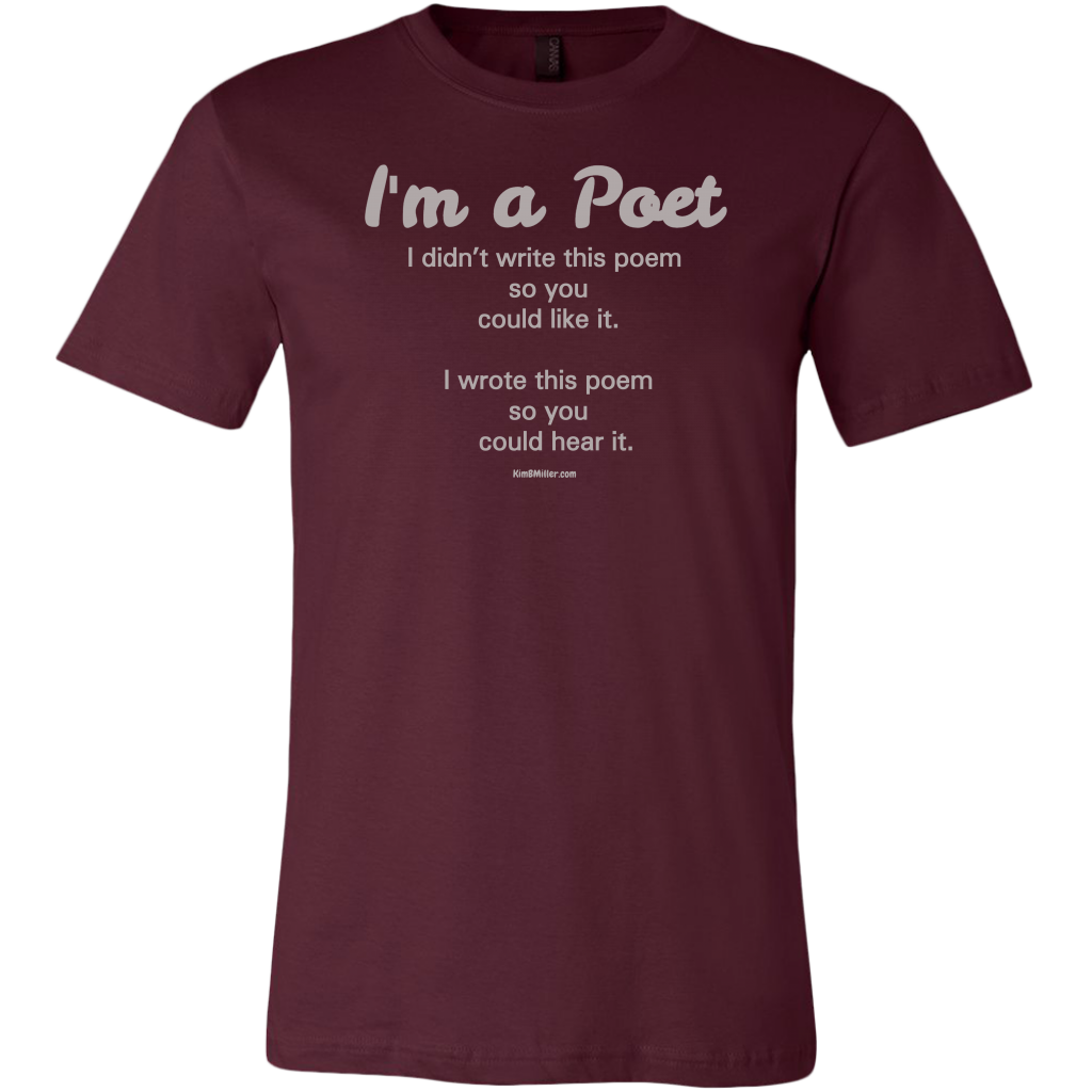 Canvas Men's Shirt: I am a Poet