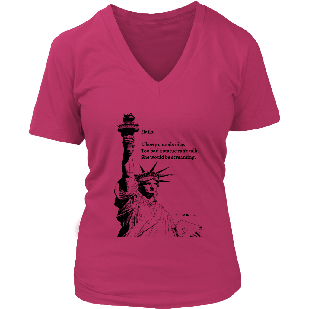 District Womens V-Neck-Statue