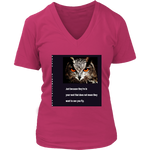 District Womens V-Neck: Fly Owl