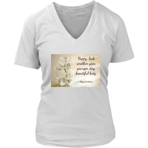 District Womens V-Neck: Beautiful Lady