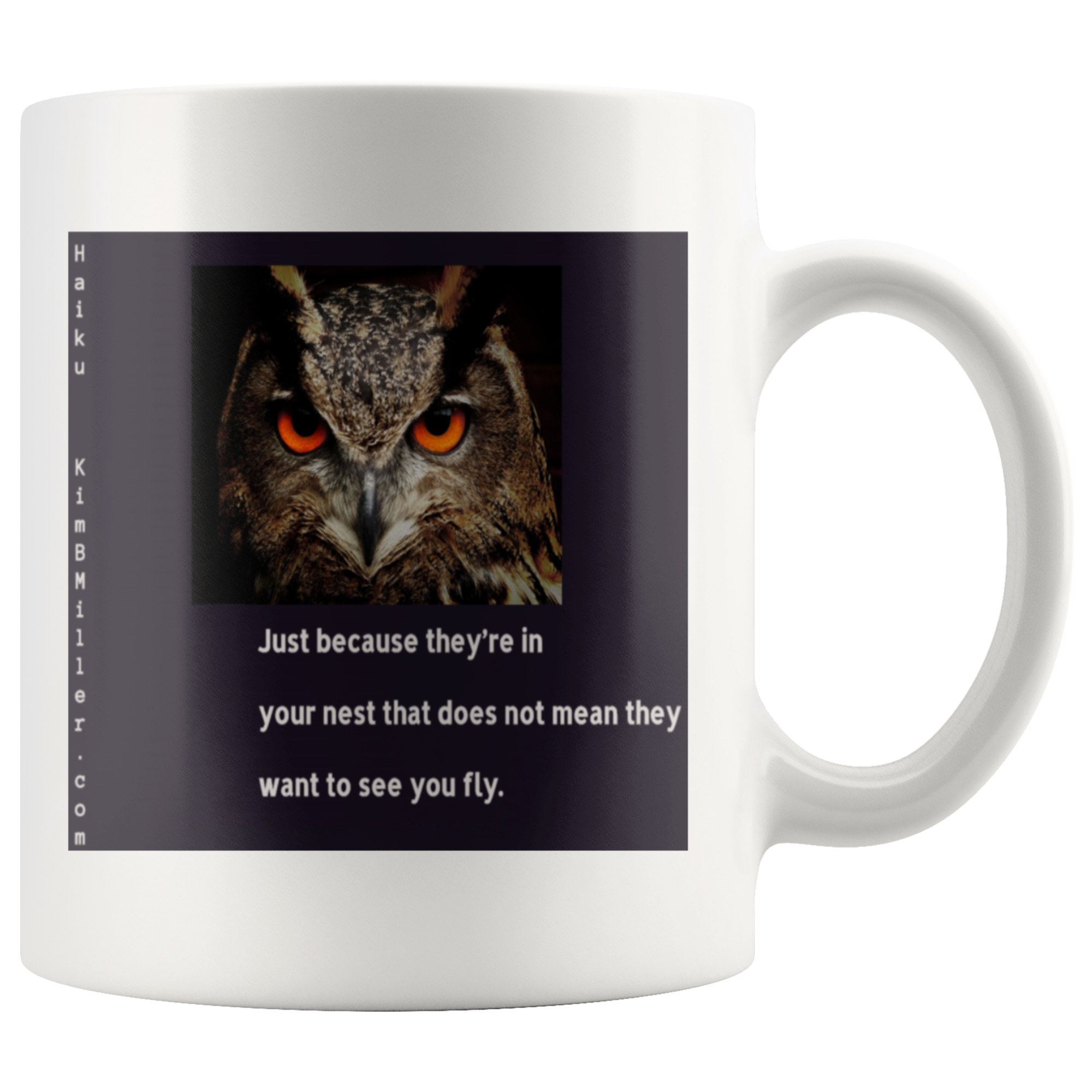 Mug: Haiku: Fly Owl 2