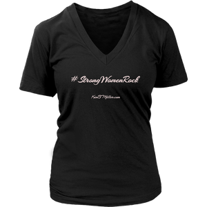 District Women's V-Neck: Rock
