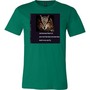 Canvas Men's Shirt: Fly Owl