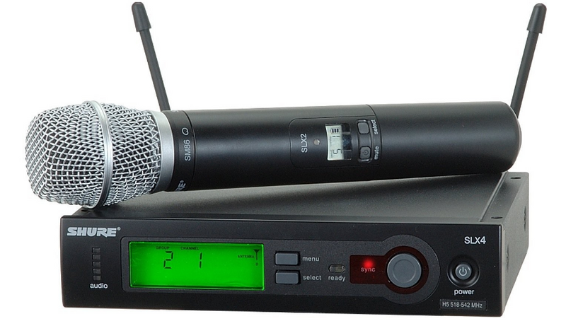 Shure SLX24/SM86-H5 Handheld Wireless Microphone System