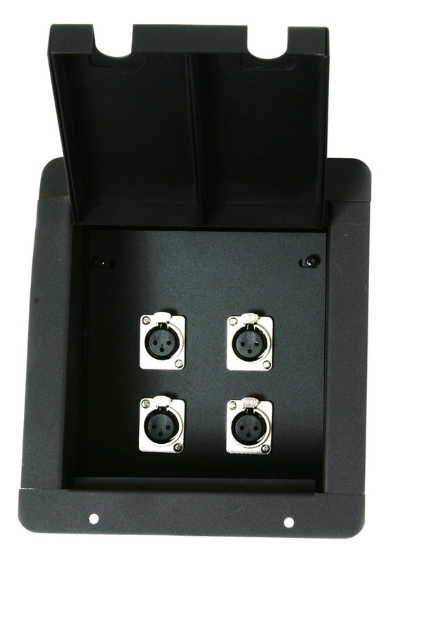 Elite Core FB4 Recessed Floor Box With 4 XLRF