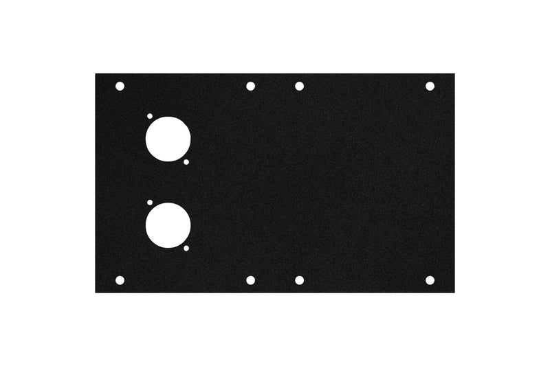 Elite Core ACE-PNL120-2D Black Metal Panel for Full Stage Pocket with 2 D-Series Punch-Outs