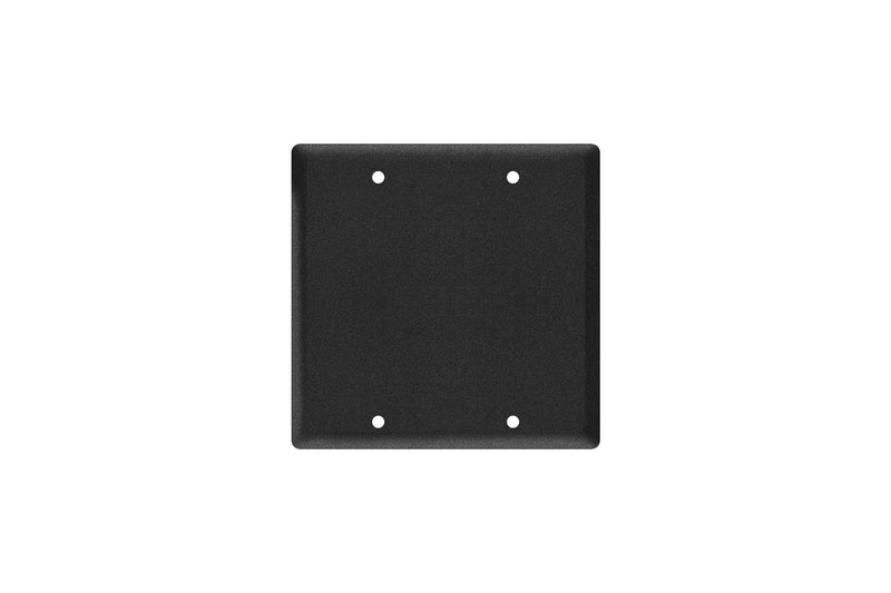 Elite Core EC-2G-BLANK Black Double Gang Wall Plate