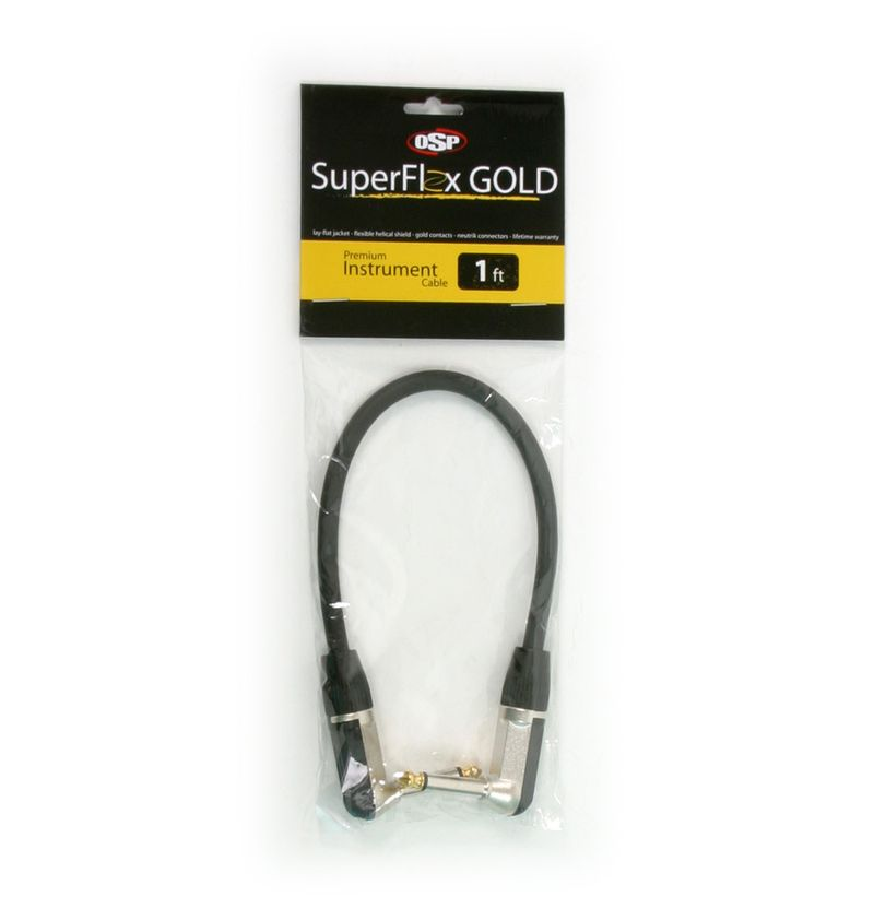 SuperFlex GOLD SFI-1RR Premium Instrument Cable 1' RA-RA