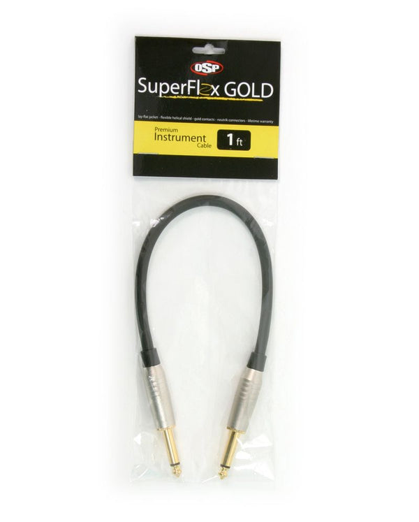 SuperFlex GOLD SFI-1SS Premium Instrument Cable 1'