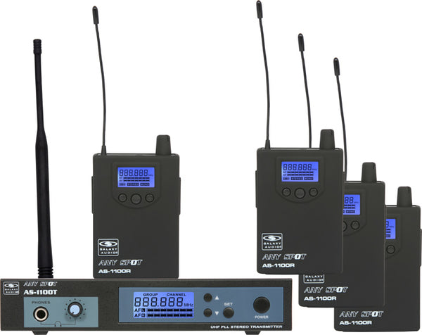 Galaxy Audio AS-1100-4 In-Ear Wireless Monitor System AS-1100-4