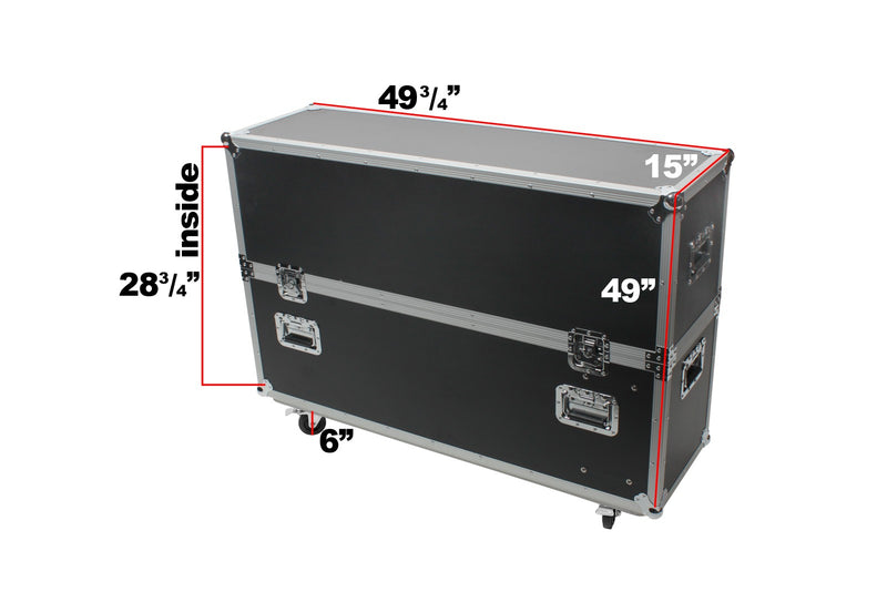 "OSP ATA Road Tour Trade Show Case for Up to a 48"" LED, LCD or Plasma TV"