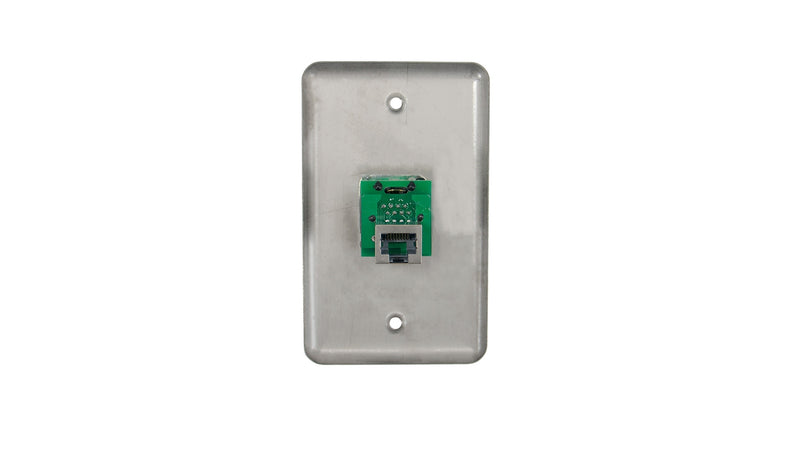 OSP D-1-1E Duplex Wall Plate w/ 1 Tactical Ethernet Pass-through Connector