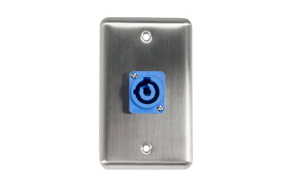 OSP D-1-1PCA Duplex Wall Plate w/ 1 Powercon A