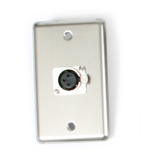 OSP D-1-XLR Single Gang Wall Plate with 1 XLR