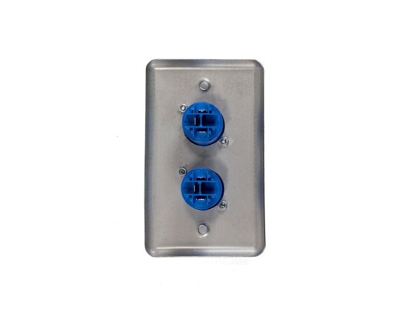 OSP D-2-2PCA Duplex Wall Plate w/ 2 Powercon A