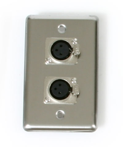 OSP D-2-XLR Single Gang Duplex Wall Plates with 2 XLR