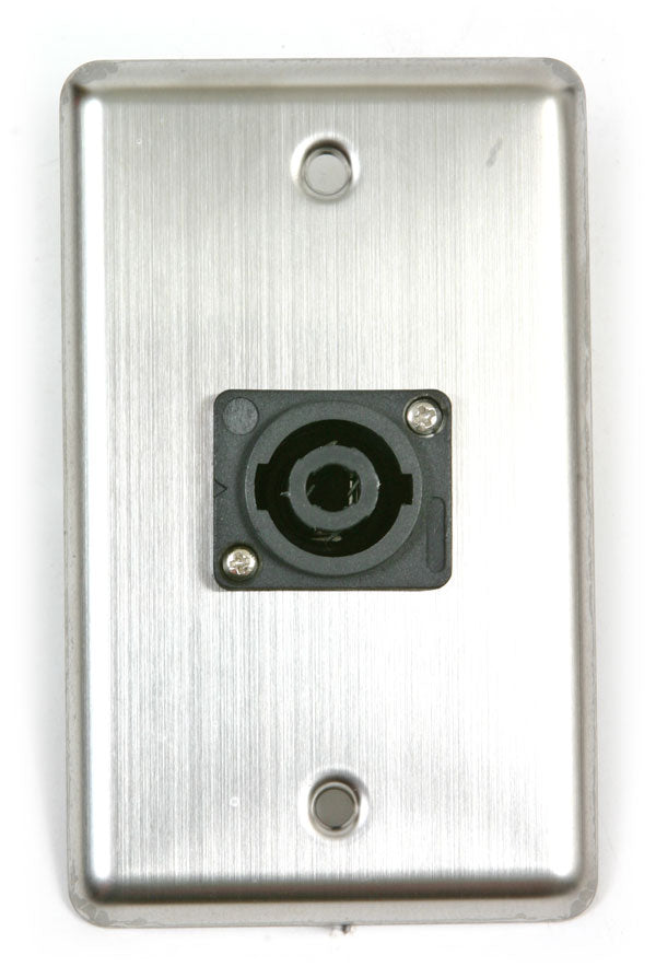OSP D-1-SPEAKON Single Gang Wall Plate with 1 Speakon