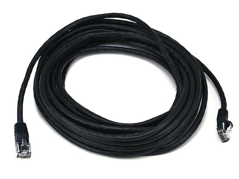 Professional 25' ft CAT5e Ethernet Network Computer Cable w/RJ45 Snagless Plugs - Black