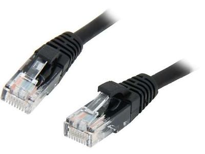 Elite Core 25' ft CAT5e Ethernet Network Cable RJ45 Plugs - Black
