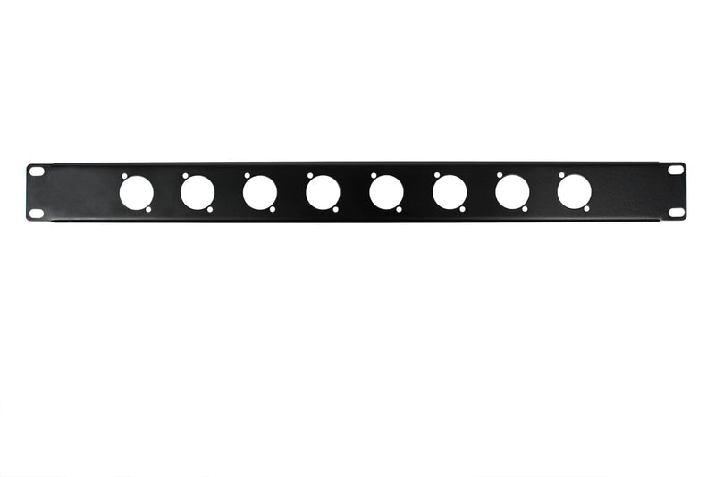 OSP RP1U-8D 1 Space Rack Panel with 8 D Holes