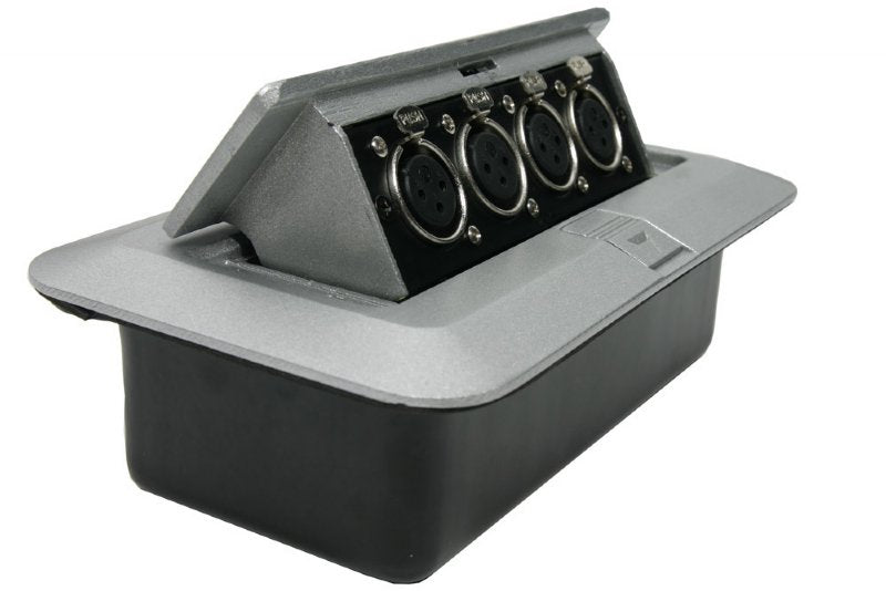 Elite Core LK-FB4XLR Pop Up Recessed Floor Box w/ 4 XLR