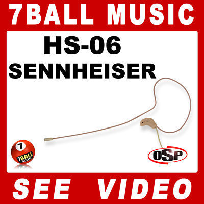 OSP HS-06 Earset Slimline Headset Mic for a Sennheiser EW Wireless Body/Beltpack