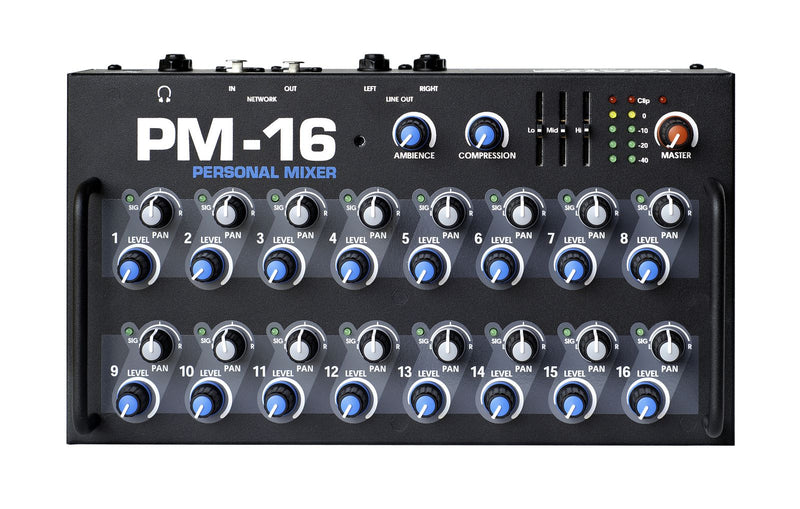 Elite Core PM-16-CORE-4-DIGITAL Complete Personal Mixer 4 Pack With 4 PM-16, 1 IM-16A, 4 Power Supplies, and Cabling