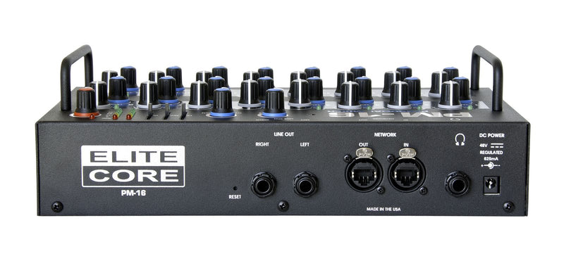 Elite Core PM-16-CORE-6-DIGITAL Complete Personal Mixer 6 Pack With 6 PM-16, 1 IM-16A, 6 Power Supplies, and Cabling