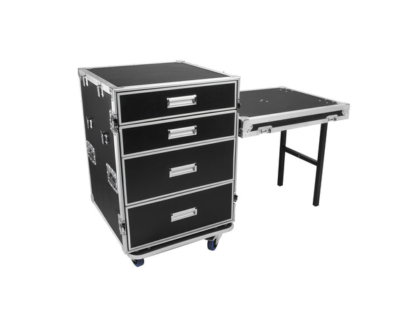 OSP PRO-DESK Modular 4-Drawer ATA Utility Rack Case Workstation