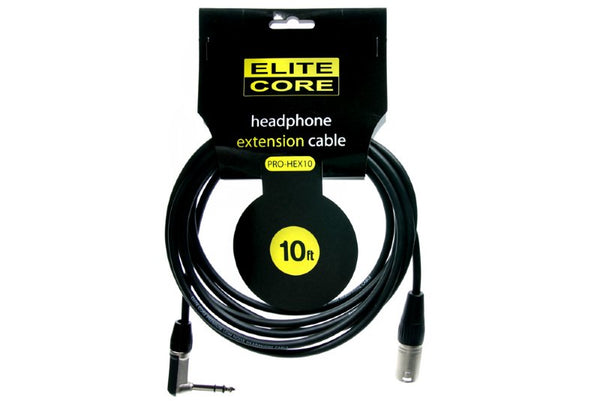 "Elite Core EC-PRO-HEX10 10' Headphone Extension Cable  (1/4"" TRS - XLRM)"