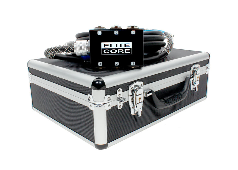 Elite Core 6 Channel 30' Pro Audio Stage Snake Cable with OSP Carry Case