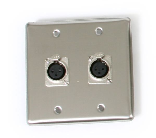 OSP Q-2-XLR Double Gang Wall Plate with 2 XLR
