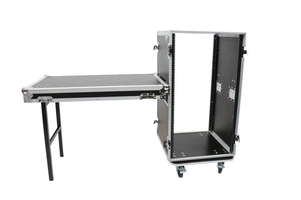 OSP RC20U-20SL 20 Space ATA Amp Rack w/Casters and Attached Utility Table