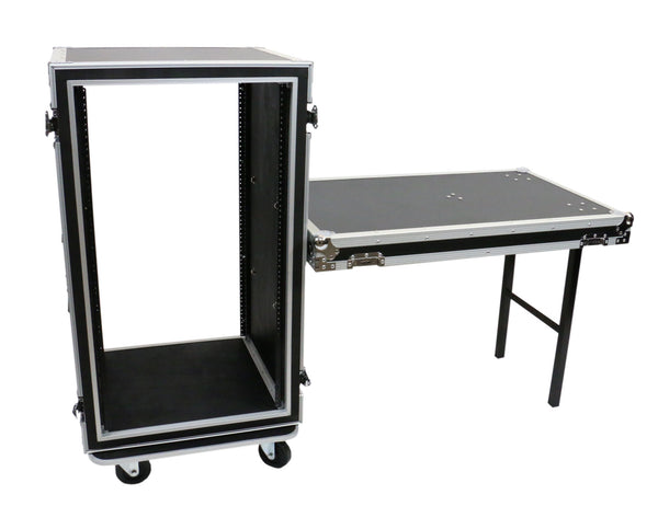 OSP SC20U-20SL 20 Space ATA Amp Rack w/Casters and Attached Utility Table