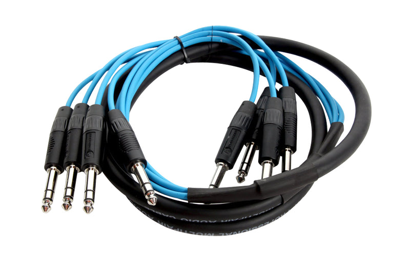 "Elite Core 4 Channel 15' ft TRS-TRS 1/4"" Male - 1/4"" Male Stereo Audio Patch Snake TPS415"