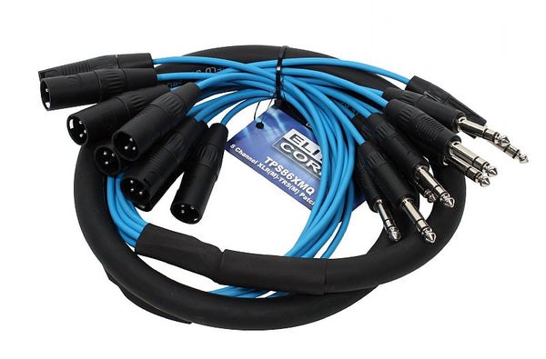 Elite Core TPS86XMQ 8 Channel 6' XLR Male - TRS Patch Snake