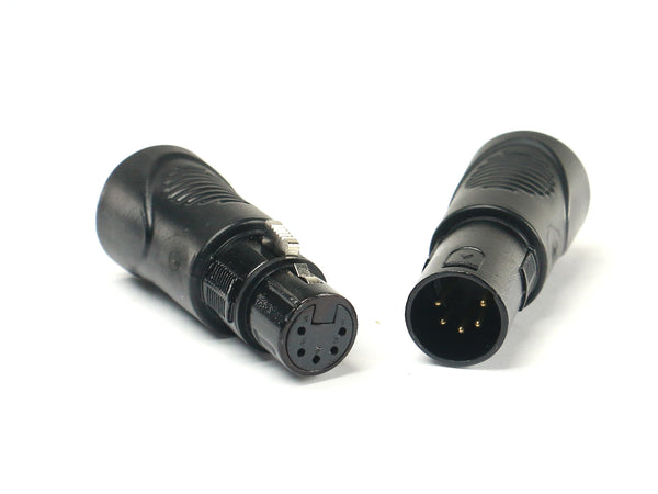 VRL VRLDMXRJ45-5P-SET 5 Pin XLR to RJ45 Adapter Set (1) Male and (1) Female