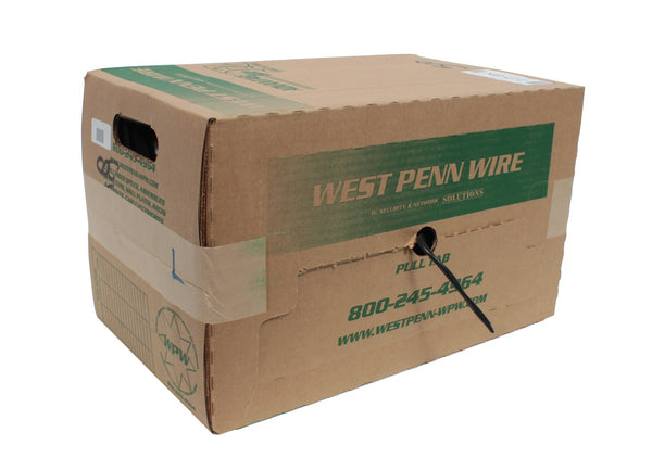 West Penn 227-BK 2 Cond 12 AWG Unshielded CMR Rated Black, 1000' Box Cable