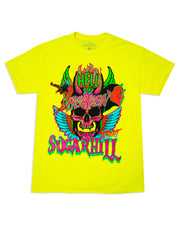 HEAVEN & HELL SAFETY YELLOW TEE