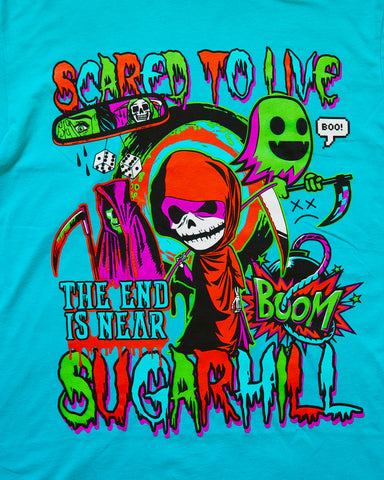 SCARED TAHITI BLUE TEE