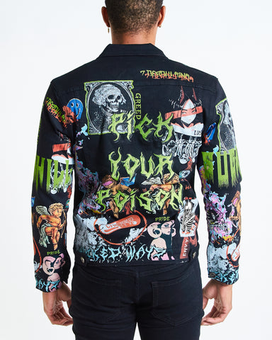 BLACK 7 SINS DENIM JACKET
