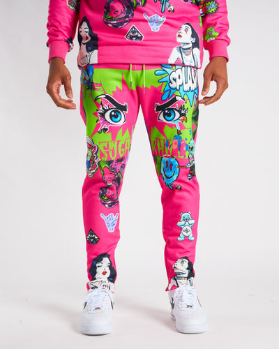 PINK PSYCHO SWEAT PANTS