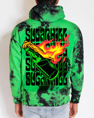 MOLOTOV GREEN APPLE CRYSTAL HOODIE